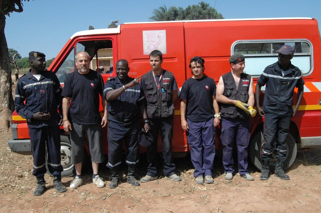 Trobada amb bombers senegalesos de Ziginchor