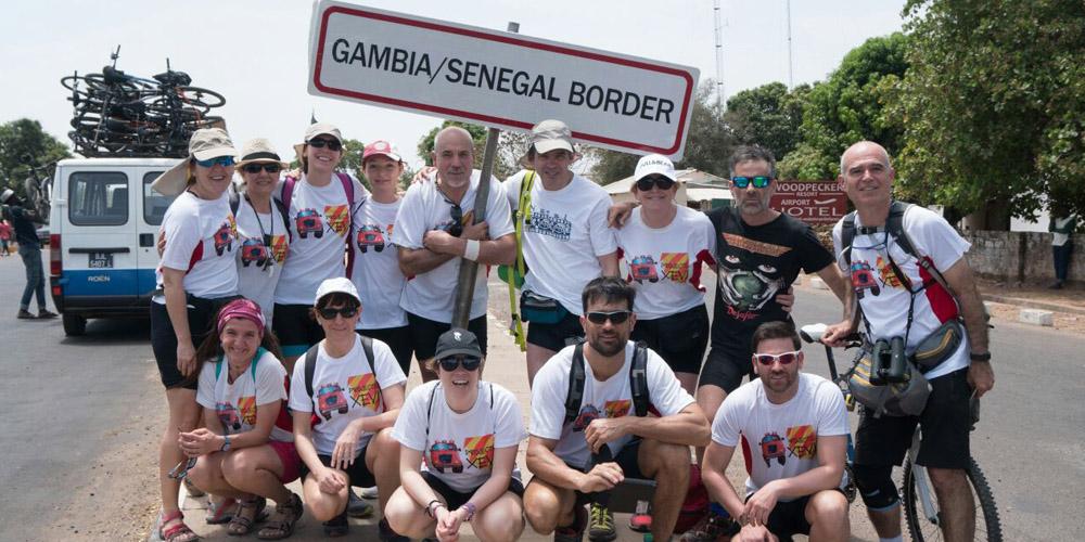 Frontera Gambia senegal Pedals solidaris 2017